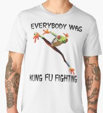 Everybody Was Kung Fu Fighting Funny Cute Tree Frog Men's Premium T-Shirt