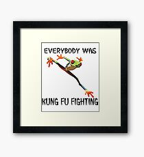 Everybody Was Kung Fu Fighting Funny Cute Tree Frog Framed Print