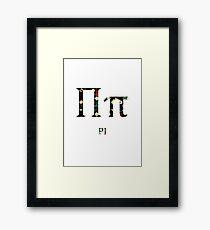 Language of Science - Pi Framed Print