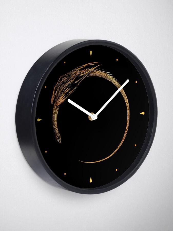 Alternative Ansicht von Sonnenfinsternis-Drache Uhr