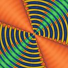 Orange Blue and Green Kaleidoscope by Tranquility