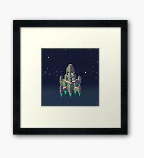 Space Temple Razagog  Framed Print