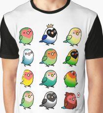 Chubby Lovebirds Graphic T-Shirt