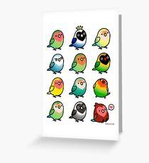 Chubby Lovebirds Greeting Card