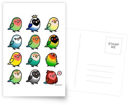 Chubby Lovebirds by birdhism