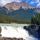 Athabasca Falls , Alberta Canada  by Robert Goulet
