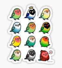 Chubby Lovebirds Sticker