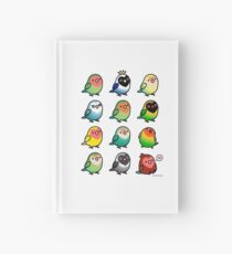Chubby Lovebirds Hardcover Journal