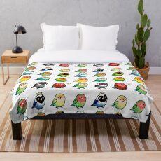 Chubby Lovebirds Throw Blanket