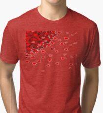 RAIN OF HEARTS  Tri-blend T-Shirt
