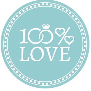 100% Love Blue by Igorgomes