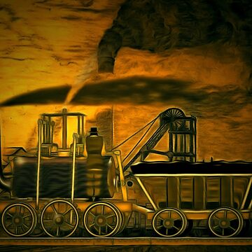 My digital painting of A Blenkinsop Locomotive at an Old Colliery in Yorkshire 19th century (includes video) by ZipaC