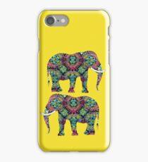 Ornate Colorful Indian Elephants Pretty Stylish Design iPhone Case/Skin