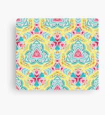 Bright summer floral inspired pattern Canvas Print