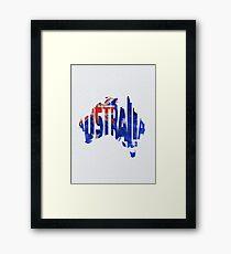 Australia Typographic World Map Framed Print