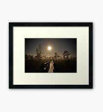 The full moon Framed Print