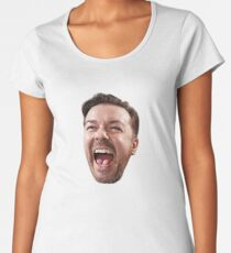 Ricky Gervais Laughing Face Women's Premium T-Shirt