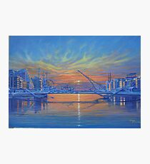 Morning on the River Liffey Photographic Print
