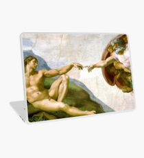 Touch of God, The Creation of Adam, (close up), Michelangelo, 1510, Genesis, Ceiling, Sistine Chapel, Rome, Laptop Skin