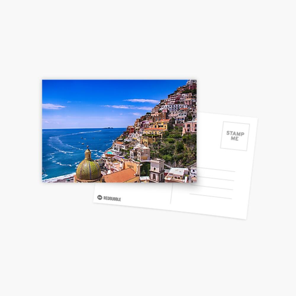 Liebe von Positano Italien Postkarte