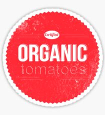 CERTIFIED ORGANIC TOMATOES Sticker