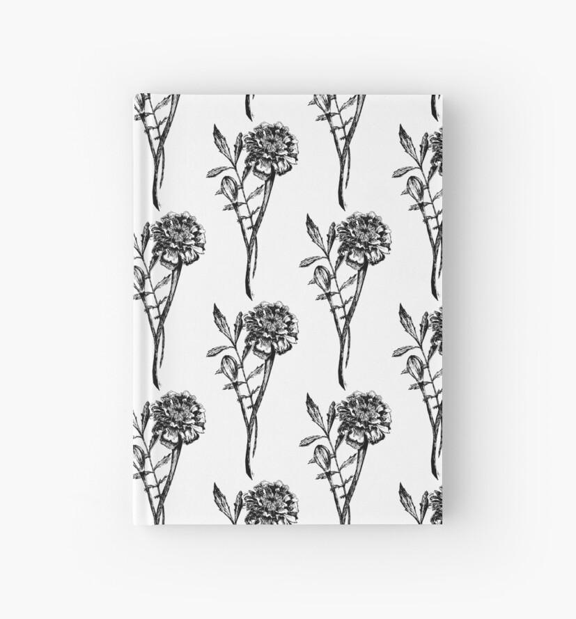 Dessin De Fleur De Souci De Noir Et Blanc Carnets Cartonnes Par
