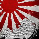 Japanischer Palast und Sonne von DCornel