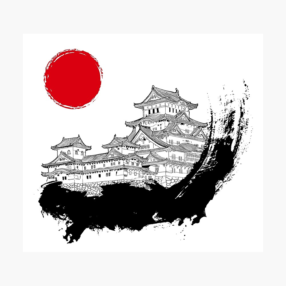 Japanischer Palast Fotodruck