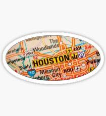 Houston Map Sticker Sticker