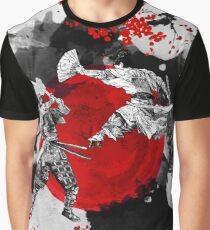 Samurai Fighting Graphic T-Shirt