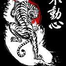 Japanischer Tiger mit Fudoshin Kanji (weiß) von DCornel