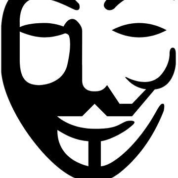 Anonymous White black by Igorgomes