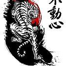 Japanischer Tiger mit Fudoshin Kanji von DCornel