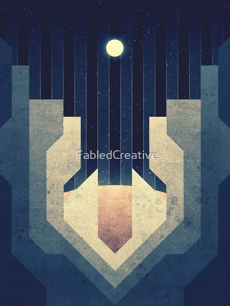 Jupiter | Mond | Europa | Eiskämme | Weltraum Kunst von FabledCreative