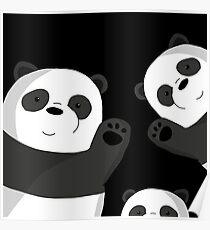 Cute pandas Poster