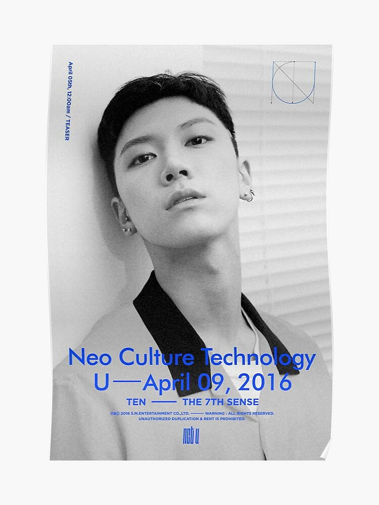 NCT U 7TH SENSE/WITH OUT YOU TEN | Poster
