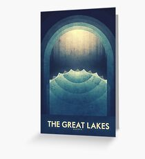 Jupiter | Moon | Europa | The Great Lakes | Space Art Greeting Card