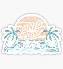 santa cruz logo - beach Sticker