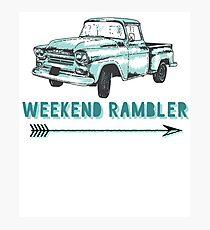 Weekend Rambler Old Truck Arrow Photographic Print