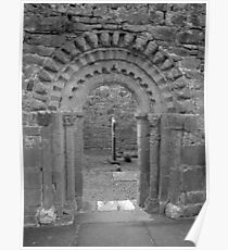 Dysart O Dea arch in black and white Poster