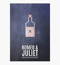 Thus With A Kiss - Minimalist Romeo & Juliet Photographic Print