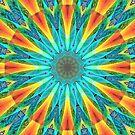 Aqua Gold Joy to the World Wild Flowers  by Diane Clancy