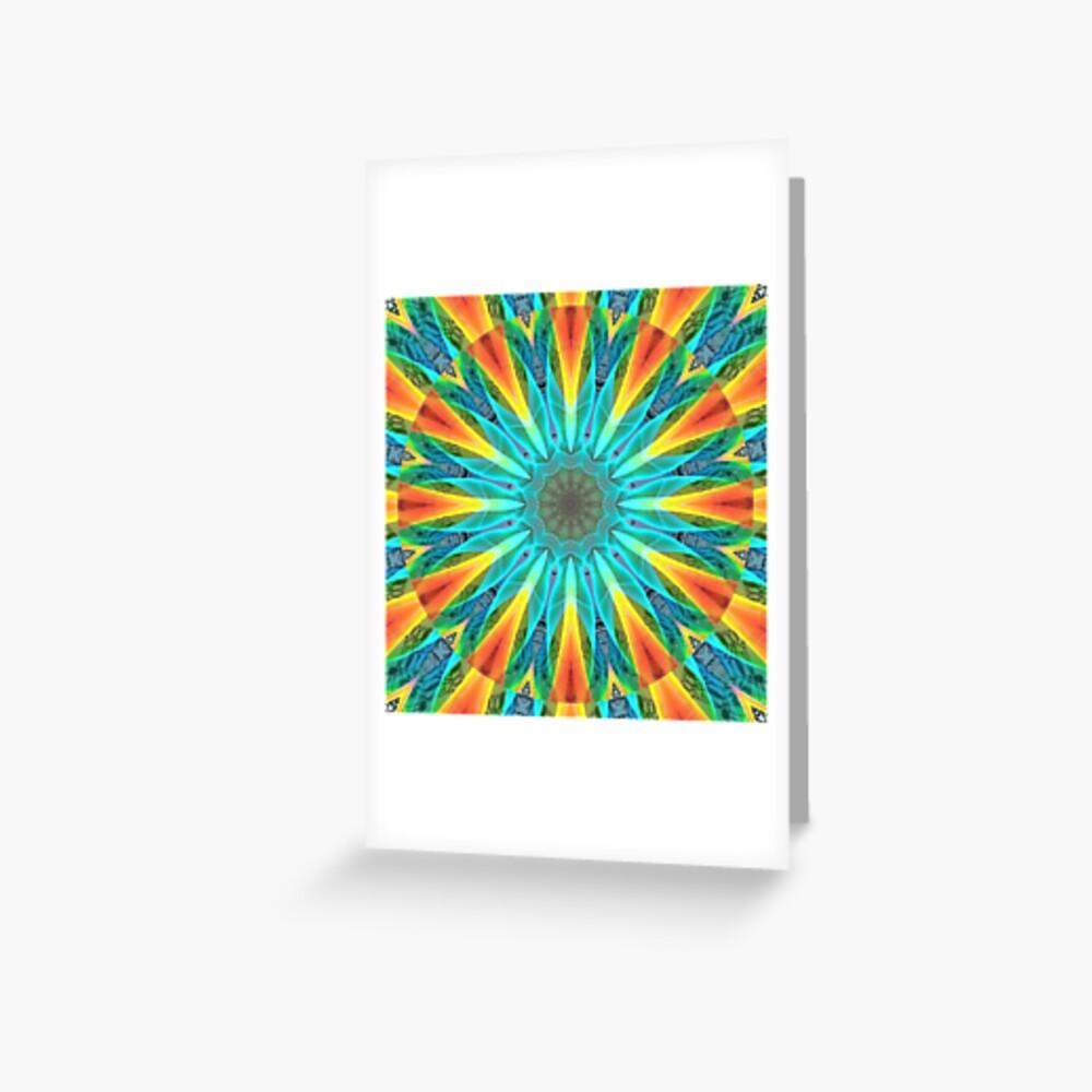 Aqua Gold Joy to the World Wild Flowers  Greeting Card