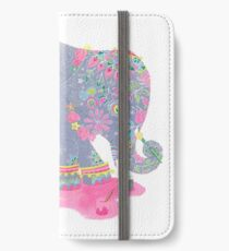 puddlepainting elephant iPhone Wallet/Case/Skin