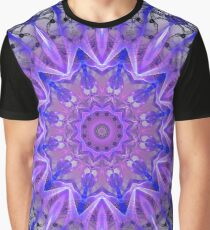 Abstract Plum Ice Crystal Palace Lattice Lace  Graphic T-Shirt