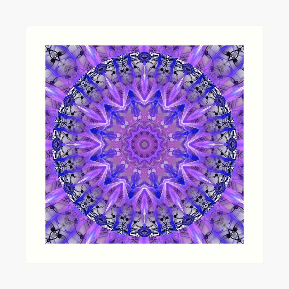 Abstract Plum Ice Crystal Palace Lattice Lace  Art Print
