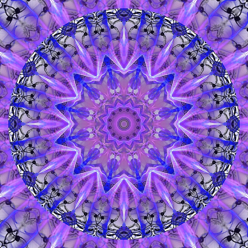 Abstract Plum Ice Crystal Palace Lattice Lace  by Diane Clancy