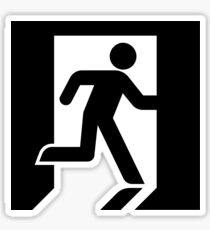 Modern Exit Iconography - High Fidelity Sticker