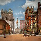 City - PA Philadelphia - Broad Street 1905 by Michael Savad