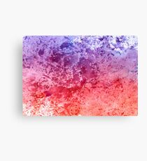 Watercolor Splashes On Paper Canvas Print
